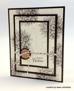 I was inspired to try the Triple Time Stamping Technique after having received the gorgeous card below (Creative Elements Stamp Set) from fellow Stampin' Up! Scrapbooking, Scrapbook Cards, Paper Cards, Diy Cards, Stampin Up Karten, Stamping Up Cards, Tampons, Card Tutorials, Pretty Cards