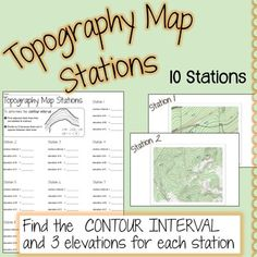 Topography Map Stations $