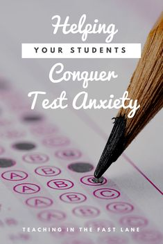 Are your students suffering from test anxiety? Check out these 10 easy to implement strategies for helping your students conquer test anxiety! Teacher Blogs, Teacher Hacks, Teaching Strategies, Teaching Resources, Teaching Tools, Teaching Ideas, Test Anxiety, First Year Teachers, Math Lesson Plans
