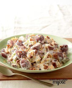 Salade de pommes de terre de la grilladerie #recette Potato Salad, Potatoes, Ethnic Recipes, Food, Apples, Recipe, Healthy Slow Cooker, Dish, Potato