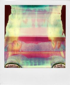 William Miller's ruined Polaroids - shot with a broken SX-70. via UO