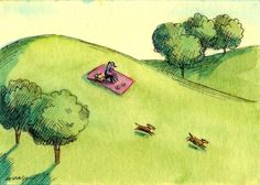 Picnic Fun, painting by artist Nicole Wong