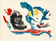 """""""First Stone,"""" 1961, by Helen Frankenthaler, printed by Robert Blackburn, published by Universal Limited Art Editions"""