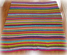 Blackberry Salad Striped Afghan | link to the free pattern h… | Flickr