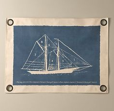 vintage sailboat art