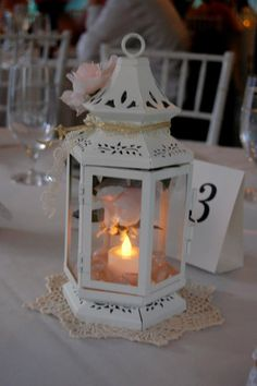 Romantic Wedding Lantern by LittleSweetTreasures on Etsy, $18.00