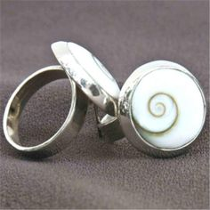 """Shiva Eye Ring - Tribal Jewelry - Ethnic Jewelry - Unisex Jewelry - Native American Jewelry - Natural Jewelry  A beautiful shiva eye ring. The """"Eye of Shiva"""" is a symbol of the third eye of the indian god,shiva.in spain they call it the eye of santa lucia and in greece ,the tears of god.they believe it will protect u while wearing it.  The ring is made out of 925 sterling silver. $37"""