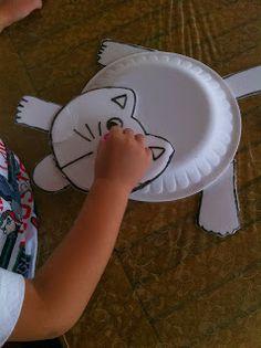 can ve cerenin oyun günlüğü: köpük tabaktan kedi yapımı