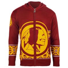 Washington Redskins Full Zip Hooded Sweatshirt from UglyTeams