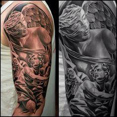 Tatouage de statue