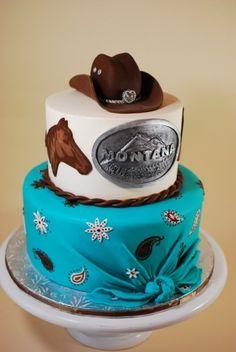 Cow Girl Birthday Cake By cupadeecakes on CakeCentral.com