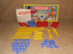 Meccano Junior Set A Incomplete But Extras Boxed