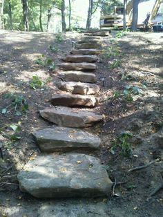 Sandstone steps!