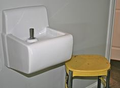 "Something to think about: If my grandkids/nieces/nephews were younger, I'd consider installing drinking fountains at their height in and outside the house -- eliminates the constant ""in & out,"" messes in the kitchen/bathroom sinks and need for paper cups. The flow pressure can be adjusted by a plumber so the stream doesn't hit the wall..."