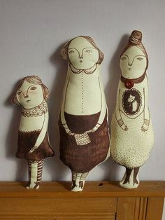 cloth dolls complete by Maidolls on Flickr