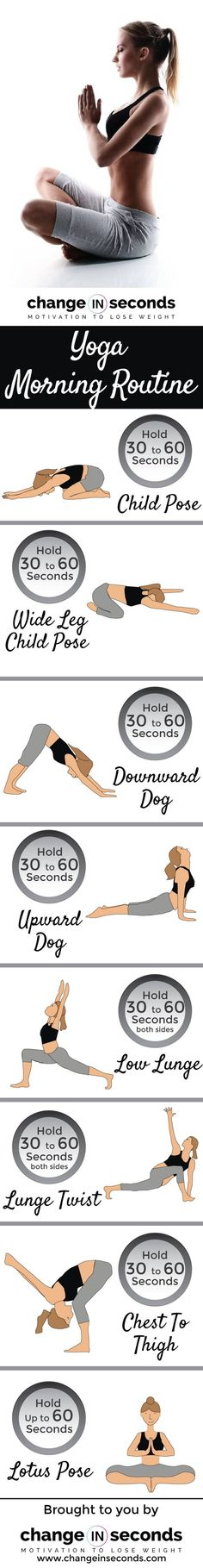 Yoga Morning Routine (Sequence) Download FREE PDF http://amzn.to/2ssKnYB