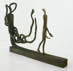The Road; The Shadow; Too Long, Too Narrow, 1946, bronze, 143.4x179.7x 59.4 cm