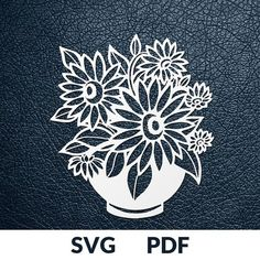 SUNFLOWERS >> You are buying the digital template of this cut only, not a finished cut. This file is ready to be used with your Cricut, Silhouette Cameo, Brother, or similar cutting machines. The template can be scaled to any size you need for printing or cutting purposes. HOW DOES IT