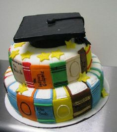 Graduation Cake by Kim and Ashlee's Cakes & Cookies, via Flickr