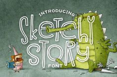 Sketchy Story Font By Denise Chandler