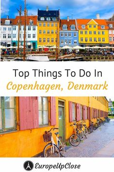 Copenhagen is such a colorful and fun city. I love the style and quirkiness of Copenhagen and there is a ton of stuff to do. Here are the Top Things to Do in Copenhagen! Denmark Europe, Visit Denmark, Denmark Travel, Copenhagen Denmark, European Travel Tips, Europe Travel Guide, Travel Abroad, Travel Guides, Europe Destinations