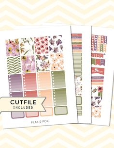 SUMMER FIELD Weekly Planner Sticker by flaxandfoxplanner on Etsy
