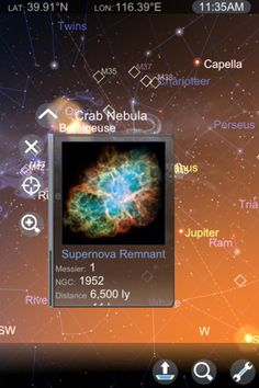 Augmented reality app for astronomy