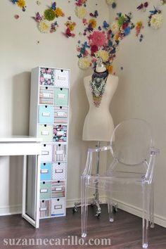 CD storage case DIY home office ideas suzanne carillo