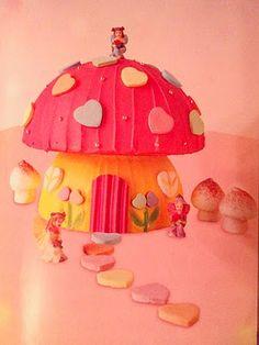 Magic toadstool birthday cake