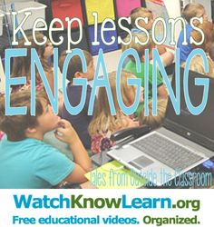 Keep lessons engaging using videos from watchknowlearn.org