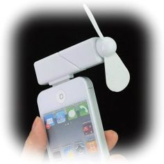 The Amazing Mini Cool Dock Fan: This mini fan is easy to use and works well with iPhone 4, 4g and 3gs. It comes in white and is simple and portable and can fit into your pocket. This product can keep you cool and comfortable for as long as 6 hours on a full charge. Great for classrooms and lectures. http://www.podies.com/the-amazing-mini-cool-dock-fan-gadgets-cooler-3/