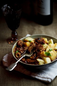 Slow-braised Pork Ragu with Roasted Garlic Gnocchi - Save this recipe for cold days