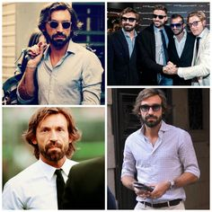 World Cup Style Icon - Andrea Pirlo Andrea Pirlo, Italy Fashion, Mens Fashion, Beard Humor, Renaissance Costume, Classic Man, Gentleman Style, Style Icons, How To Look Better