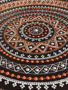 by Yulya Stepanova Dot Art Painting, Mandala Painting, Stone Painting, Mandala Canvas, Mandala Art, Mandala Pattern, Mandala Design, Aboriginal Dot Art, Point Paint