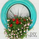 Hometalk :: Repurposed Tires as Flower Planters or hang like a tire swing!!