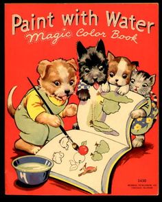 paint with water magic color book merrill 1937 ebay