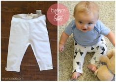ONE little MOMMA: DIY Stamped Baby Leggings- {Guest Post}