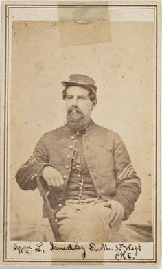 Wm. L. Smedley/Drum Major, 5th Regt/PRVC. Smedley enlisted as a private in Company K. in June 1861 and later transferred to the 191st Pennsylvania Infantry in June 1864. At Gettysburg, the 5th Reserves were in Colonel J.W. Fisher's Brigade of Crawford's Division, III Corps and came to the support of Rice's (Vincent's) Brigade fighting furiously on Little Round Top.