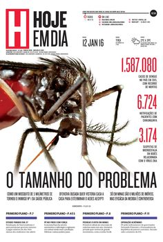 Capa do dia 12/01/2016 #HojeEmDia #Jornal #Notícias #News #Newspaper