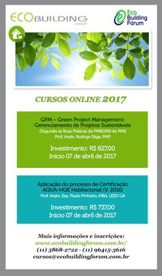 Blog do Macêdo - Arquitetura e Sustentabilidade: Novas turmas de cursos online EcoBuilding Fórum - ...