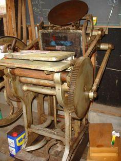 Letterpress of indeterminate origins Printing Press, Origins, Letterpress, The Originals, Places, Prints, Printing, Letterpress Printing, Letterpresses