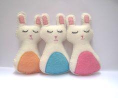 Bunny Rabbit Felt Plush Party Favor - Christmas Stocking Stuffer Gift. $12.00, via Etsy.