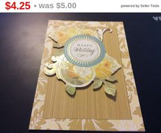Super Sale Gorgeous 3D Happy Wedding Greeting with roses by EMTWTT