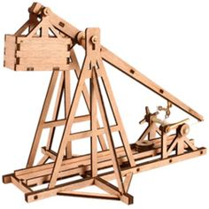 Trebuchet Wooden Model Kit Miniature Catapult Education Ancient Times Middle Age