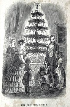 How Queen Victoria and Prince Albert brought German Christmas traditions, such as Christmas markets and Christmas trees, to Britain.          (Image Credit: The Queen's Christmas tree at Windsor Castle published in the Illustrated London News, 1848, and republished in Godey's Lady's Book, Philadelphia in December 1850. via Wikimedia Commons.) #Christmas