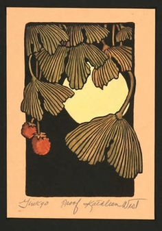 Ginkgo II Print, Small Prints, Kathleen West Prints, Mission Art