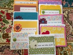 handmade cards, and a wonderful pen pal idea for young women