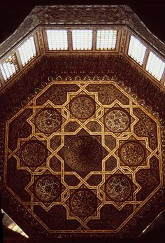 Complex of Qa'itbay, Mamluk, interior of dome (1472–4), Cairo.