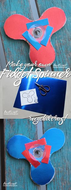 Recycled crafts are my favorite. I love taking things that are typically trash or used for other things and then turning them into something fun! Fidget Spinners are all the rage, right!? I guess cubes and controllers are making it big too. Here's a fun DIY to make your own spinner.