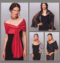 Evening Wraps - this looks like an essential for changing up the classic black dress.